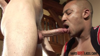 Drew Brody and Ben Collins at hard brit lads