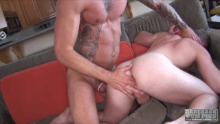 Dolf Dietrich and Brian Bonds at bareback cum pigs