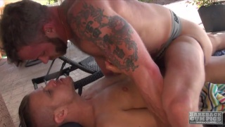 Tony Bishop and Derek Parker at bareback cum pigs