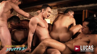 IBRAHIM MORENO DOUBLE-PENETRATION ORGY at Lucas Entertainment