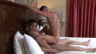 Allen Lucas and Brian Torrez at active duty