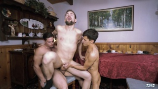 Aspen, Griffin Barrows and Xander Brave at Drill My Hole