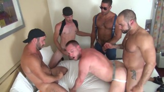 Hans Berlin Gang Banged at raw fuck club