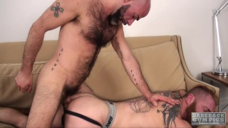 Damon Andros and Zack Acland at Bareback Cum Pigs