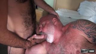 Stephen Harte and Tony Da Rimma at hairy and raw