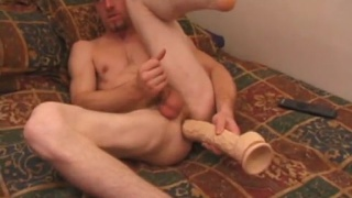 adam plays with massive dildo at defiant boyz