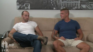 Dustin Steele and Jace Chambers at bait buddies