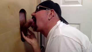 Business Man gets blowjob at Glory Hole Hookups