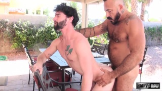 Alessio Romero and Jackson Fillmore at hairy and raw