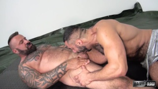 Marc Angelo and Amir Badri at hairy and raw