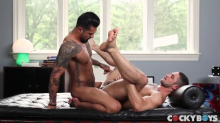 Boomer Banks and Dato Foland at cocky boys