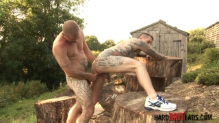 Max English and Dan Jensen at hard brit lads