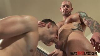 Harley Everett and Jack Jefferson at hard brit lads