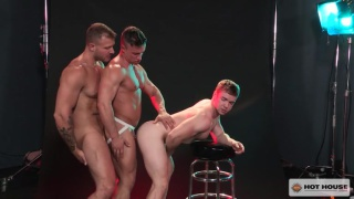 Austin Wolf, Gabriel Cross & Alexander Volkov at Hot House