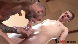 Harley Everett and Freddie White at Hard Brit Lads