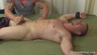 Braden Charron tickles adam bryant at my friends' feet