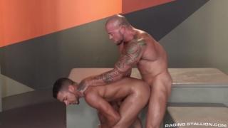 Tyson Glover and Sean Duran at Raging Stallion