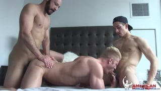 Dylan Strokes, Beau Taylor & Johnny V at American Muscle Hunks