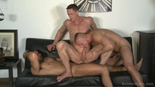 Ivan Gregory, Denis Sokolov & Lucas Fox at Kristen Bjorn