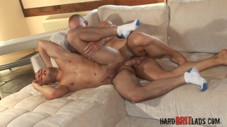 Ed Fox and James Carter at hard brit lads