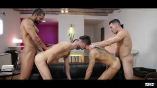 Paddy O'Brian, Andy Star, Lucas Fox & Ely Chaim at jizz orgy