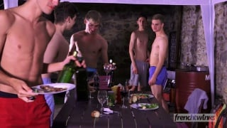 Burning Sausages at french twinks