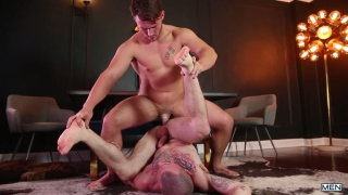 Colton Grey and Trevor Long at drill my hole