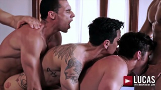 DEVIN FRANCO, ANDREY VIC, JAVI VELARO, DRAE AXTELL & ANGEL CRUZ at Lucas Entertainment