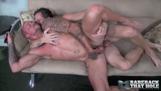 Sean Duran and Jimmie Slater fucking at Bareback That Hole