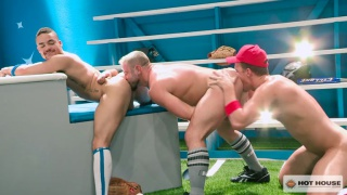 Nick Sterling, JJ Knight, Beaux Banks in threeway sex at Hot House