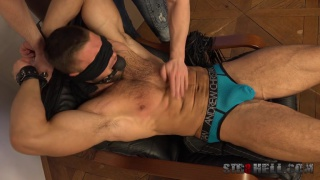 leo Lombar gets rough spanking at Str8 Hell