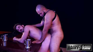 Angel Ferrari and Mason Lear at Hairy & Raw