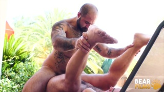 poolside fuck with Atlas Grant and Dino DeFrancesco at Bear Films