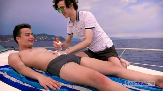 threeway sex with Doryann Marguet, Paul Delay & Erwan Lamour at French Twinks