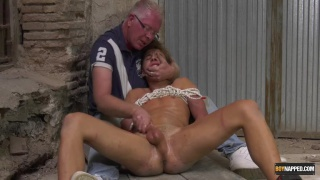 bound cock edging with Ariel Black at Boynapped