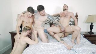Jordan Levine, Cliff Jensen, Jay Austin, Jacob Peterson & Paul Canon at jizz orgy