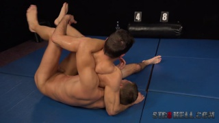 naked wrestling with Tomas Salek and Martin Hovor at Str8 Hell