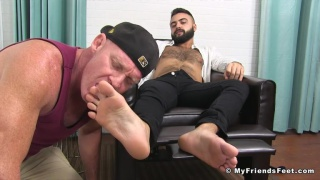 sexy bearded hunk Gabriel B at My Friends Feet