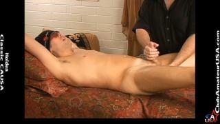 Vlad on the massage table at Club Amateur USA
