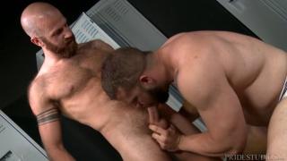 locker room fuck with James Stevens & Dax Carter at Pride Studios