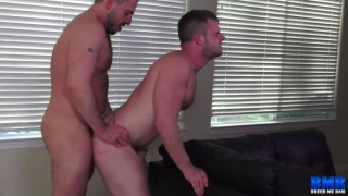 bareback sex with Marc Giacomo & Brian Bonds at Breed Me Raw