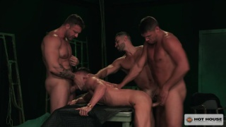 Austin Wolf, Skyy Knox, Arad Winwin and Tyler Roberts at Hot House
