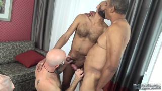 Mickey Carpathio, Tancredo Buff and Saul Leinad at Bareback That Hole