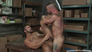 Sergeant Miles and Seth Santoro at Raging Stallion