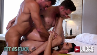 AADEN STARK TAKES RAW DICK FROM MANUEL SKYE AND DAMON HEART at Lucas Entertainment