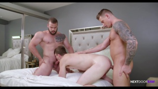 threeway sex with Gunner, Nathan Styles & Dax Carter at NExt Door Raw