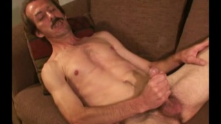 47-year-old Ricky jerking off at Workin Men XXX