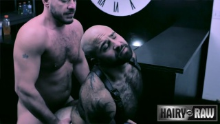 Marc Giacomo and Atlas Grant barebacking at Hairy and Raw