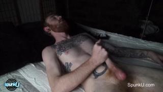 DOM TY masturbates at SPUNKU