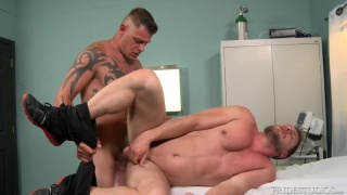 Hans Berlin bottoms for Jace Chambers at Men Over 30